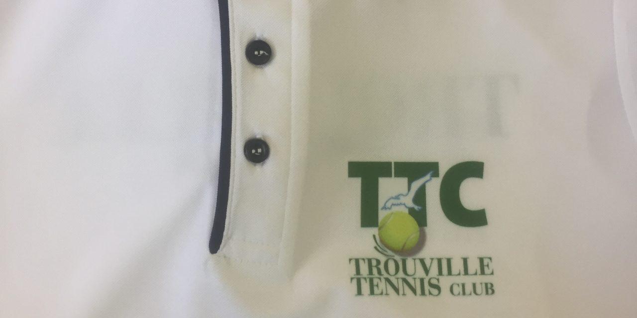 Flocage sur Polo pour le Trouville Tennis Club