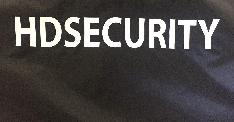 Flocage sur Coupe-vent Personnalisé pour HD Sécurity
