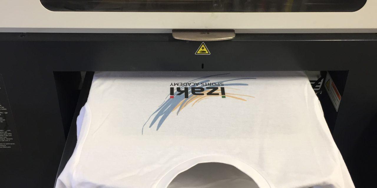 Impression en Numérique DTG sur Tee shirt pour Izaki Sport Academy