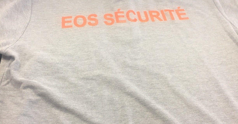 Sérigraphie sur Polo Personnalisé pour EOS Sécurité