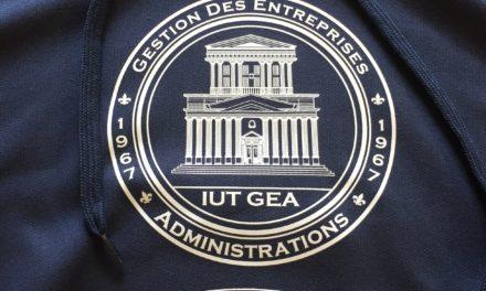 Sweat Étudiant Personnalisé pour l'IUT GEA Nantes