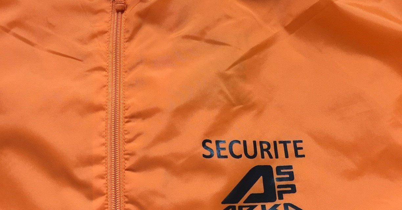 Kway Personnalisé pour Arka sécurité à Rennes