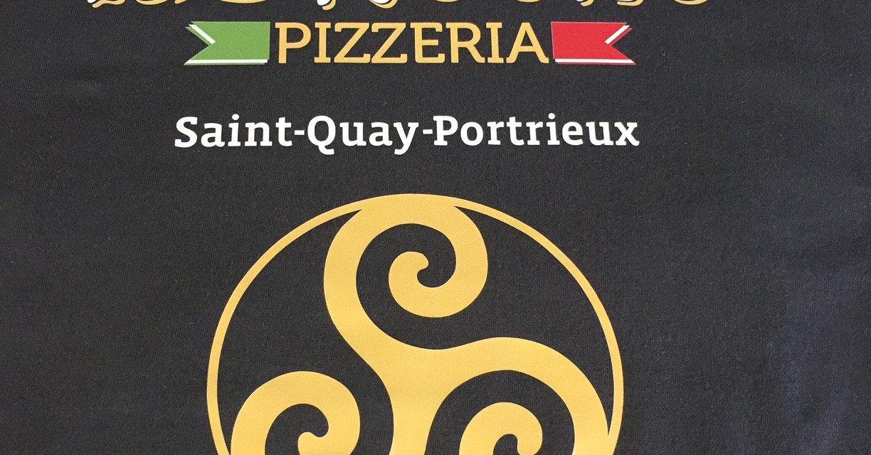 Tee shirt Floqué pour la Pizzeria La Brèche à St Quay Portrieux