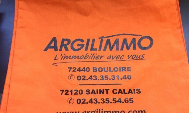 Tote Bag (Sac en coton) Publicitaire pour une agence Immobiliere