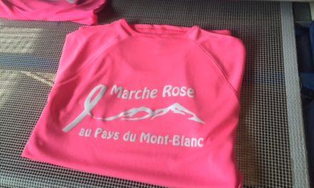 Tee shirt de Running Personnalisé pour l'Association Marche Rose