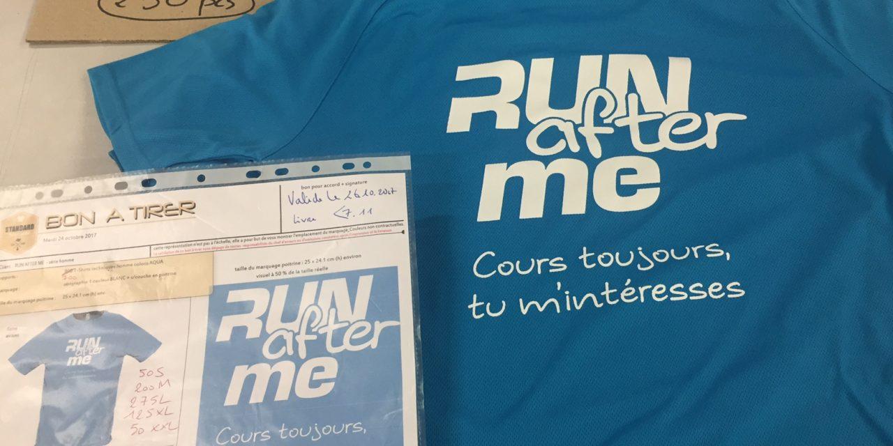 Tee shirt Running Personnalisé pour Run After Me