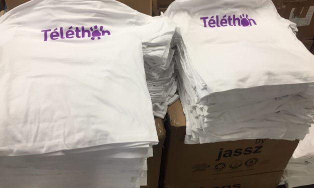 Tee Shirt Personnalisé en Sérigraphie pour le Téléthon