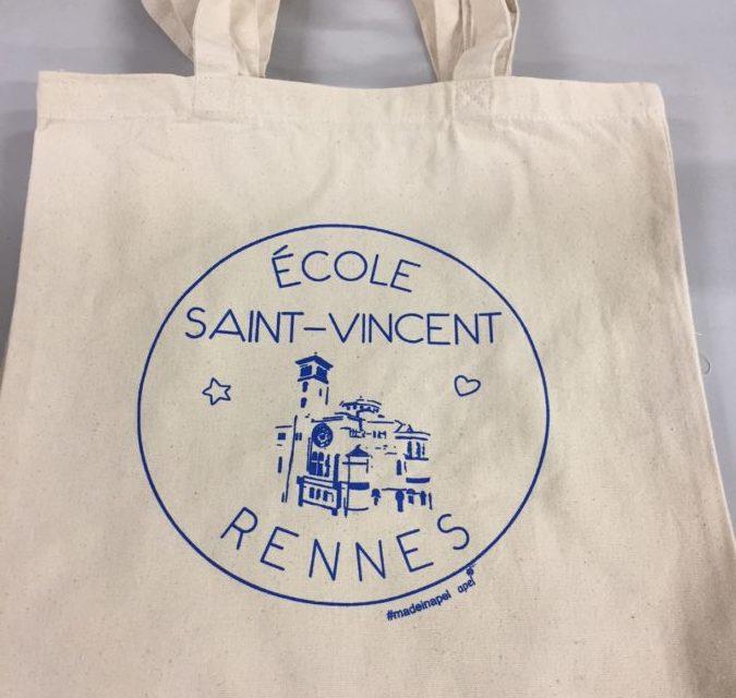 Tote Bag Personnalisé pour l'École Saint-Vincent à Rennes