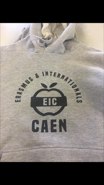 Sweats à Capuche Personnalisés pour Erasmus Caen